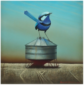 Blue Fairy Wren and Field Bin