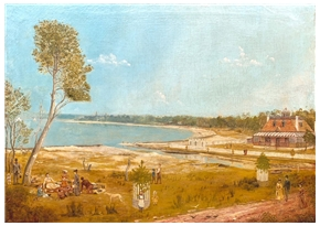 Grounds of the Scarborough Hotel, Dolls Point, Sydney c 1892